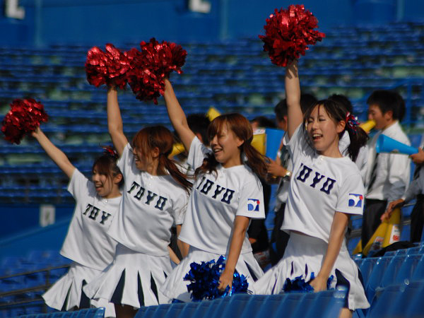 Японские бейсбольные чирлидерши