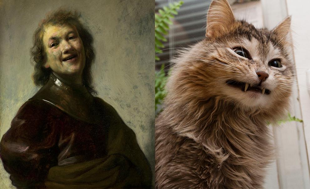 Кошки Подражающие Известным Картинам