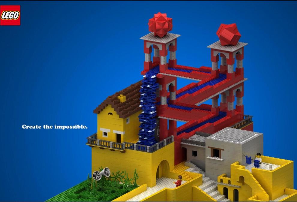 Забавная реклама LEGO