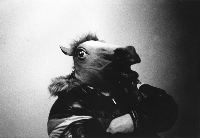 Смешные и жуткие лошадиные маски