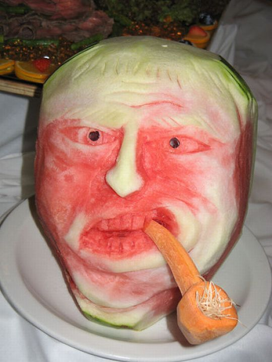 Художественная резьба по арбузу