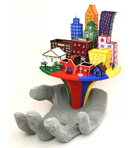 LEGO скульптуры от Натана Савайя