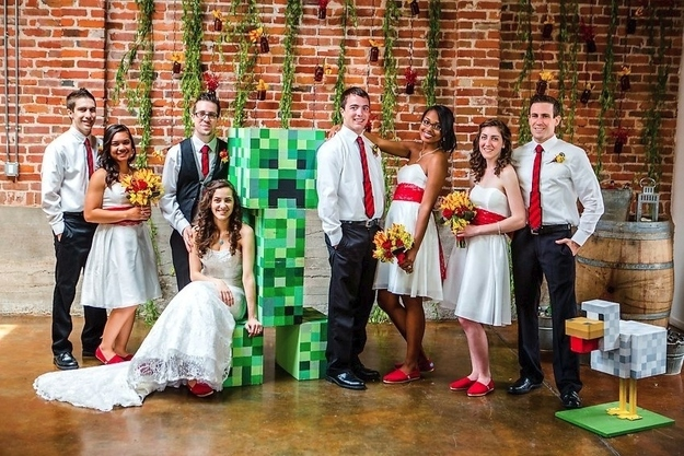 Свадьба в стиле Minecraft