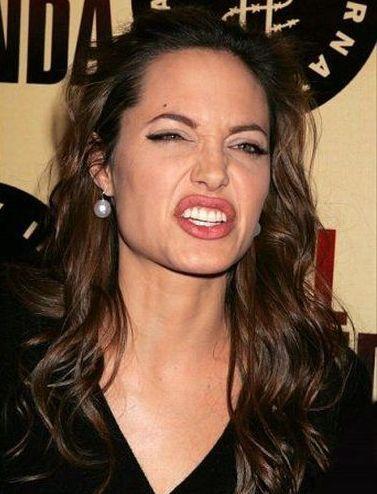 Забавные Лица Анджелины Джоли