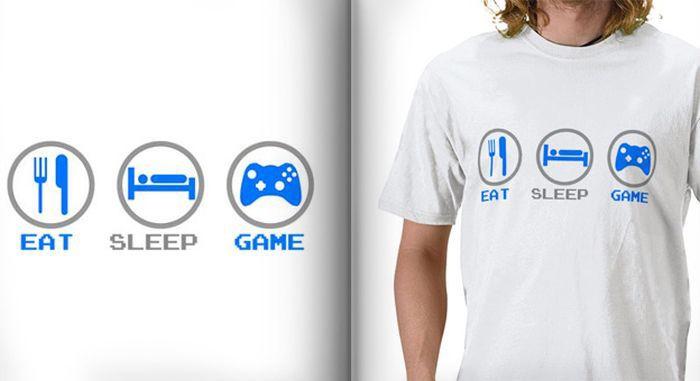Забавные Футболки для фанатов Видеоигр