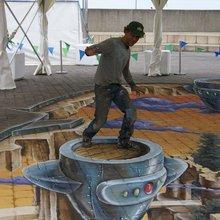 Удивительный 3D Street Painting