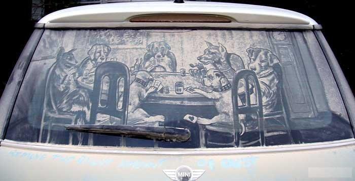 Рисунки на машинах