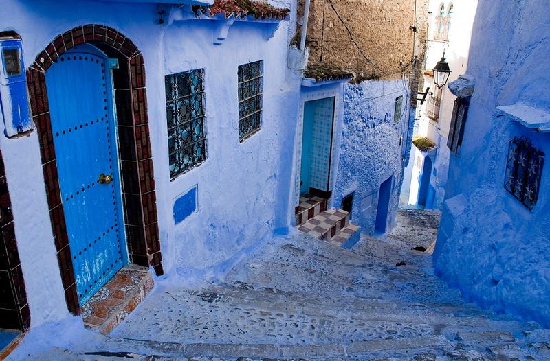 Марокканский голубой город Шефшауен