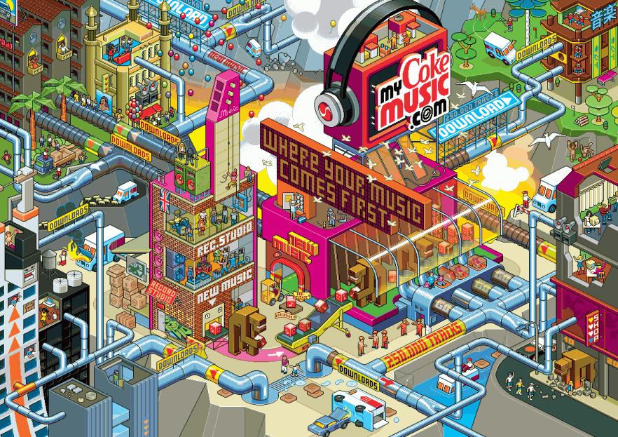 Урбанистический Пиксель Арт