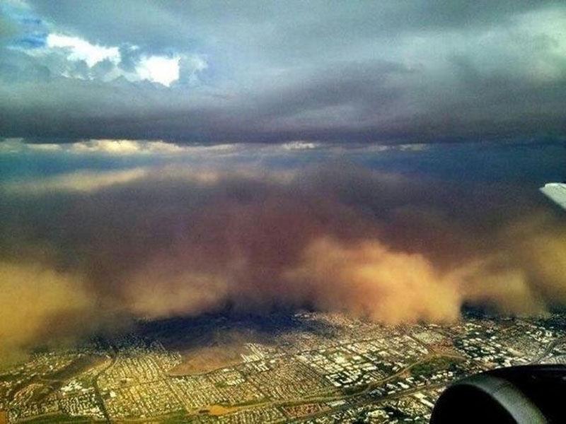 Жуткая Песчаная буря в Аризоне