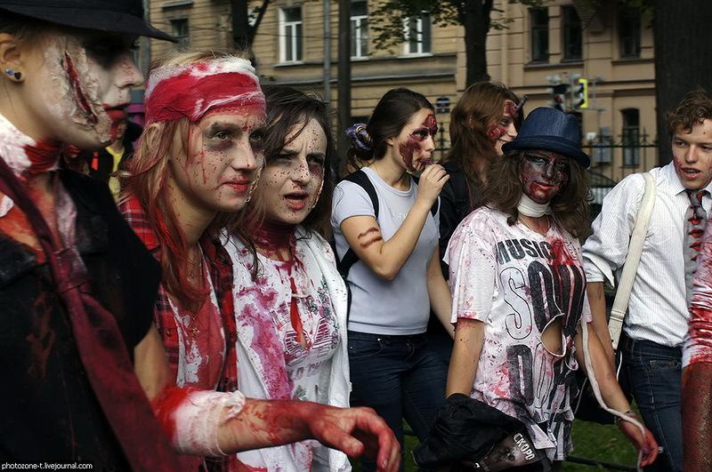 Петербург внезапно наводнили зомби