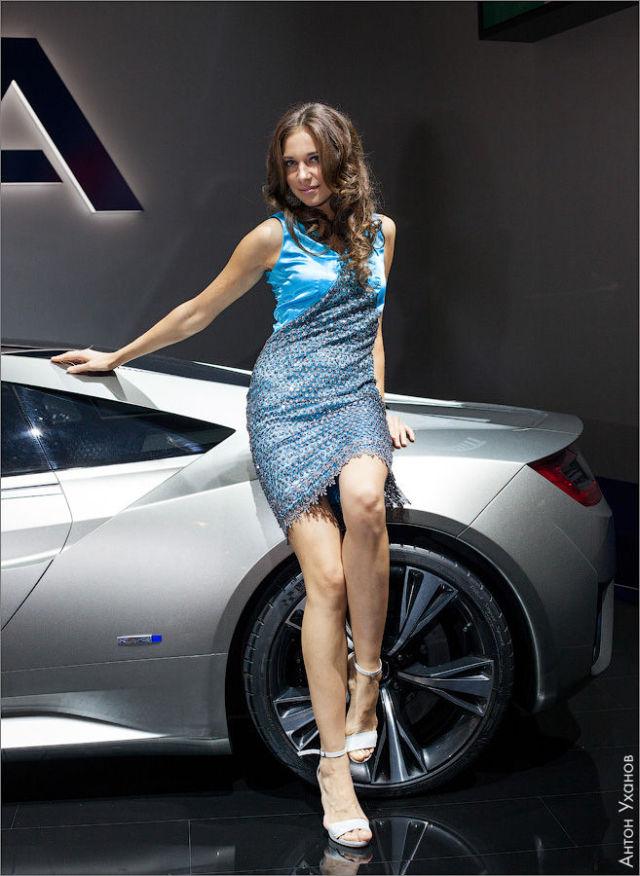 Девушки с Московской Международной Автовыставки 2012