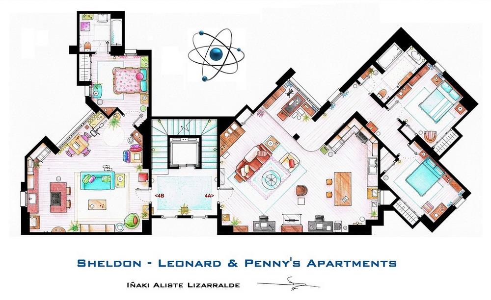 Схема квартир из известных сериалов