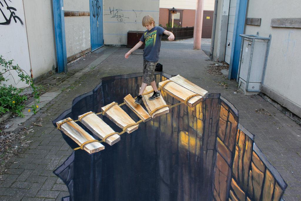 Уличные 3D-рисунки Николая Арндта