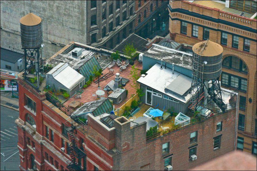 Крыши домов в европейских городах