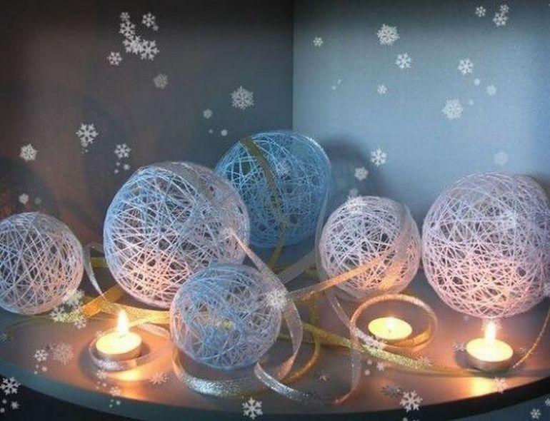 Снежинки и украшения к новому году своими