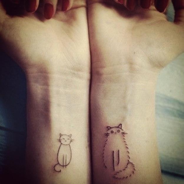 Кошки татушки