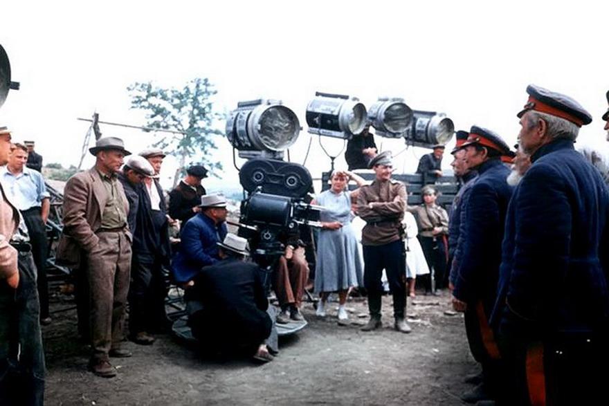 Редкие кадры со съемок советских фильмов