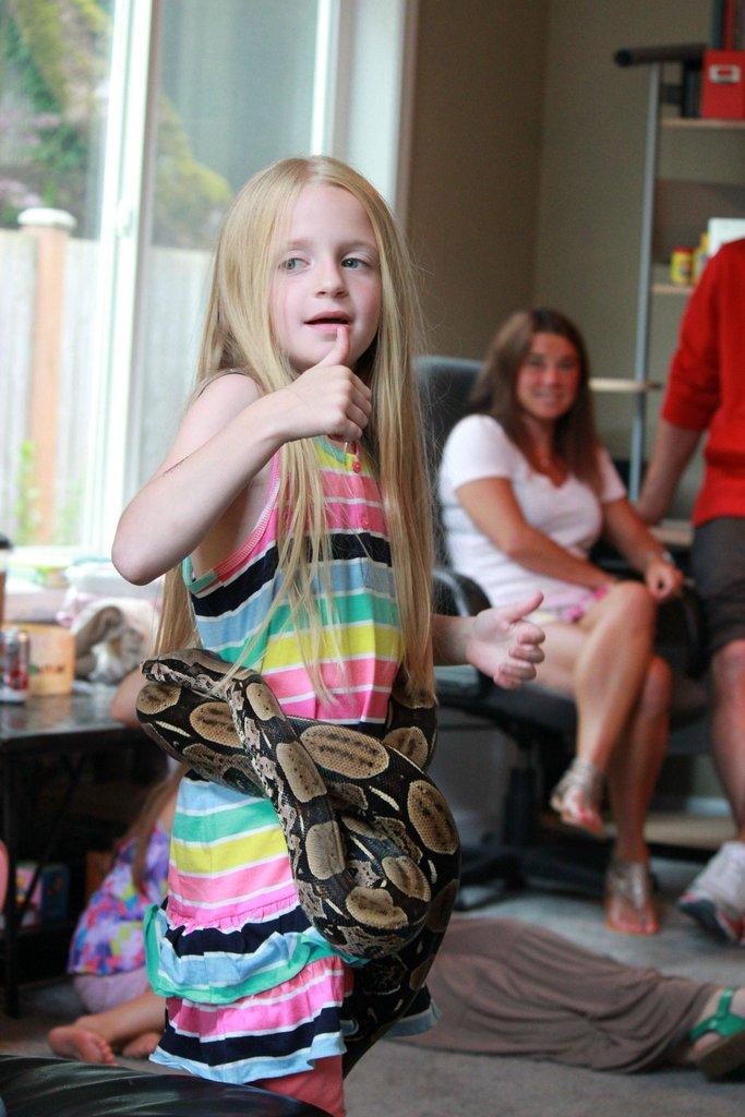 Детская вечеринка с рептилиями