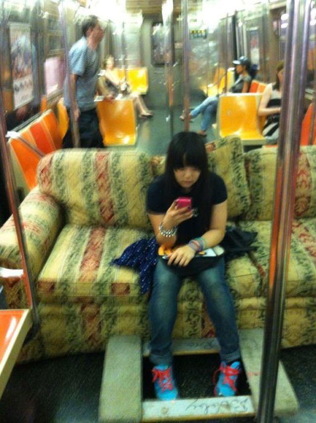 Фрики и странные люди из метро