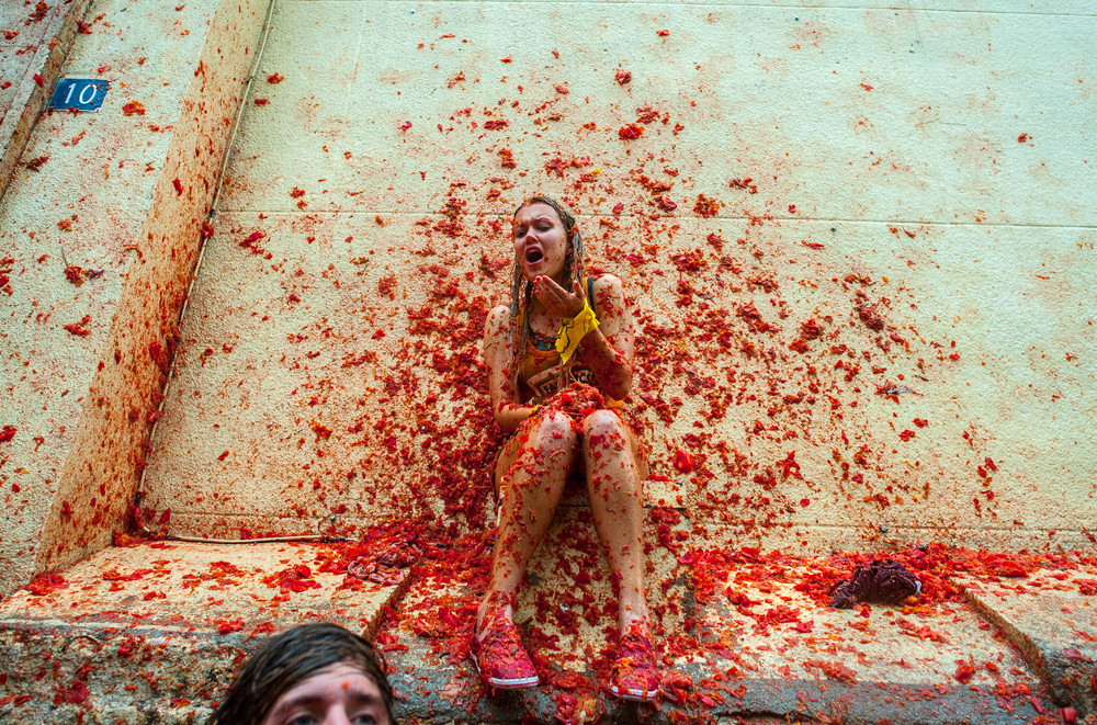 Помидорные бои La Tomatina 2013