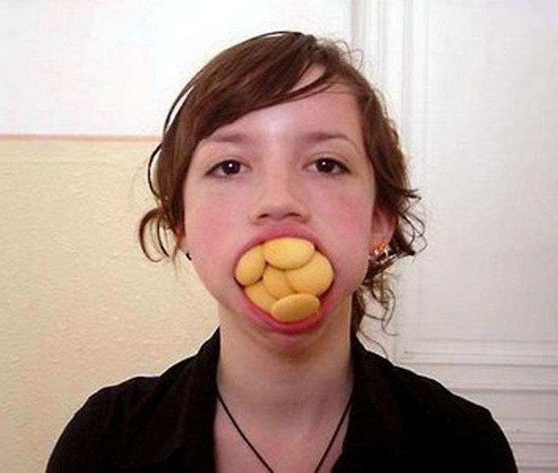 У кого рот больше