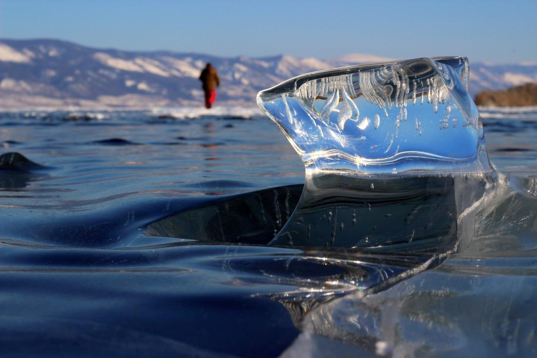 Бирюзовые льды Байкала