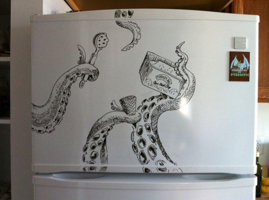 Забавные Рисунки на Холодильнике