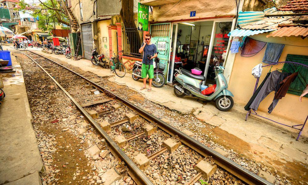 Железнодорожная линия в Ханое