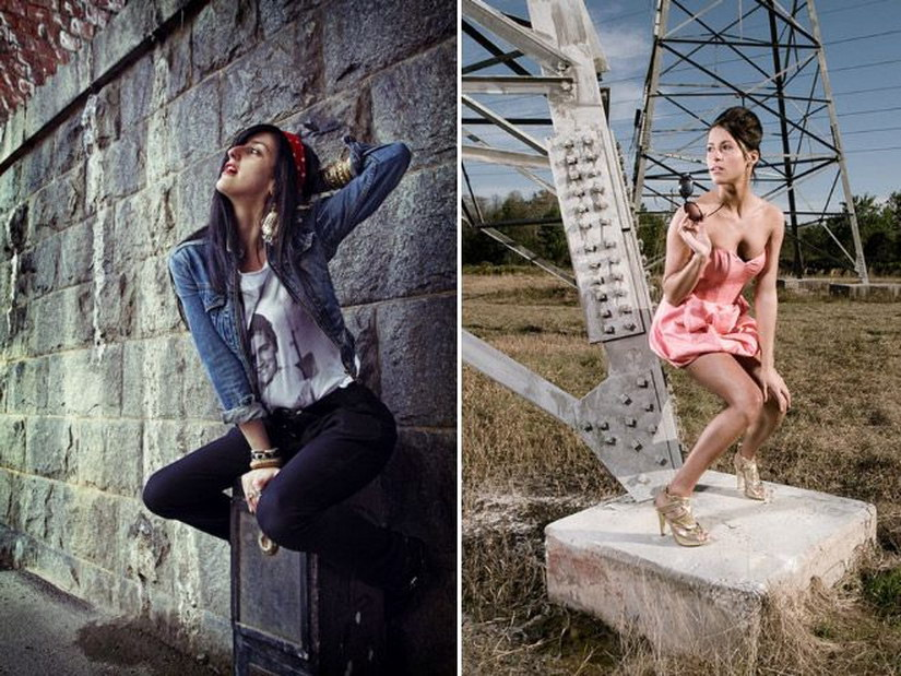 Творческий подход фотомоделей к позированию