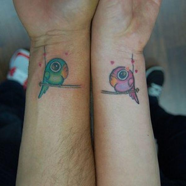 Тату для двоих, парные татуировки