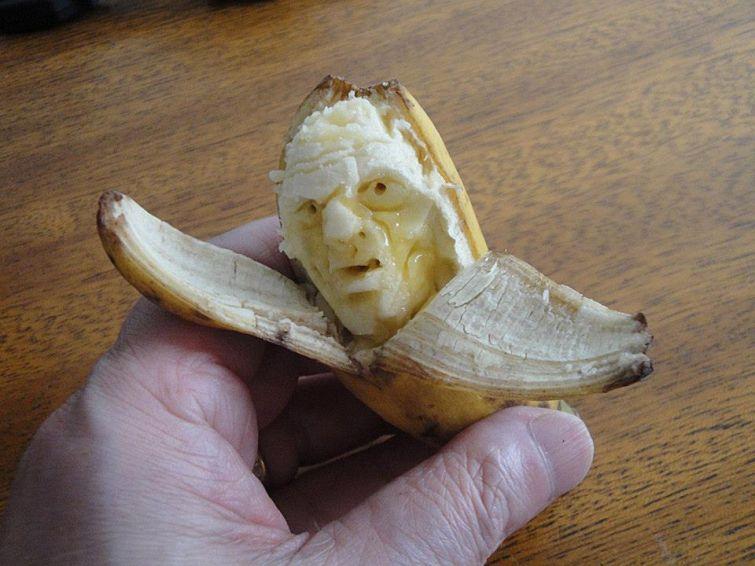 Забавные и пугающие лица из еды