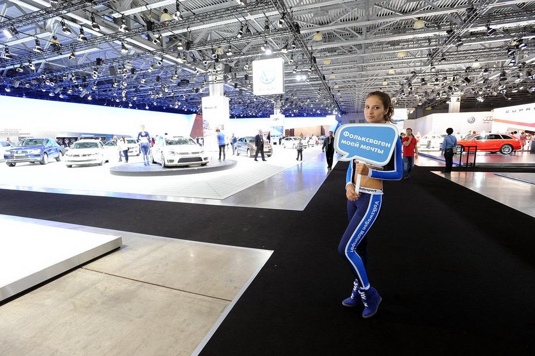 Девушки с Московского автосалона 2014