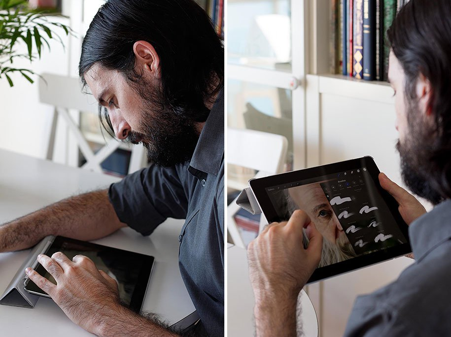 Сюрреализм сенсора на iPad