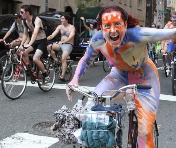 Naked Bike Ride in Philadelphia